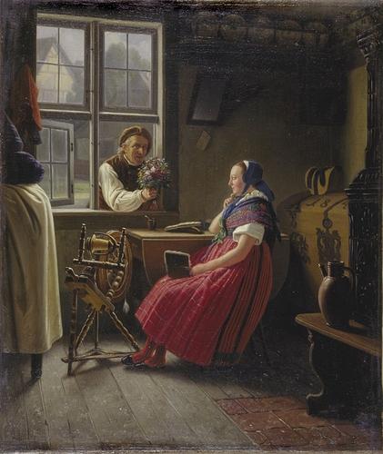 Ludwig_August_Most_-Bauernpaar_aus_dem_Weizacker(1850)